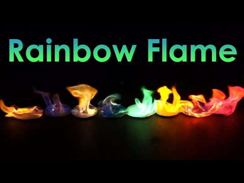 Rainbow Flame! Coloured Fire Experiment!