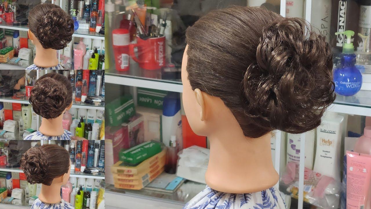 Búi Tóc Đơn Giản & Nhanh Chóng!  Có sử dụng búi giả giúp các bạn tóc ngắn búi được tóc đẹp! Kiểu 77