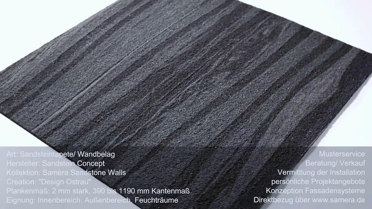 Samera Sandsteintapete Sandsteinverkleidung Design Ostrau Youtube