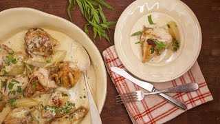 Jacques Pépin's Chicken with Cream Sauce