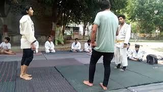 Judo:€Boy and girl amazing bouti judo