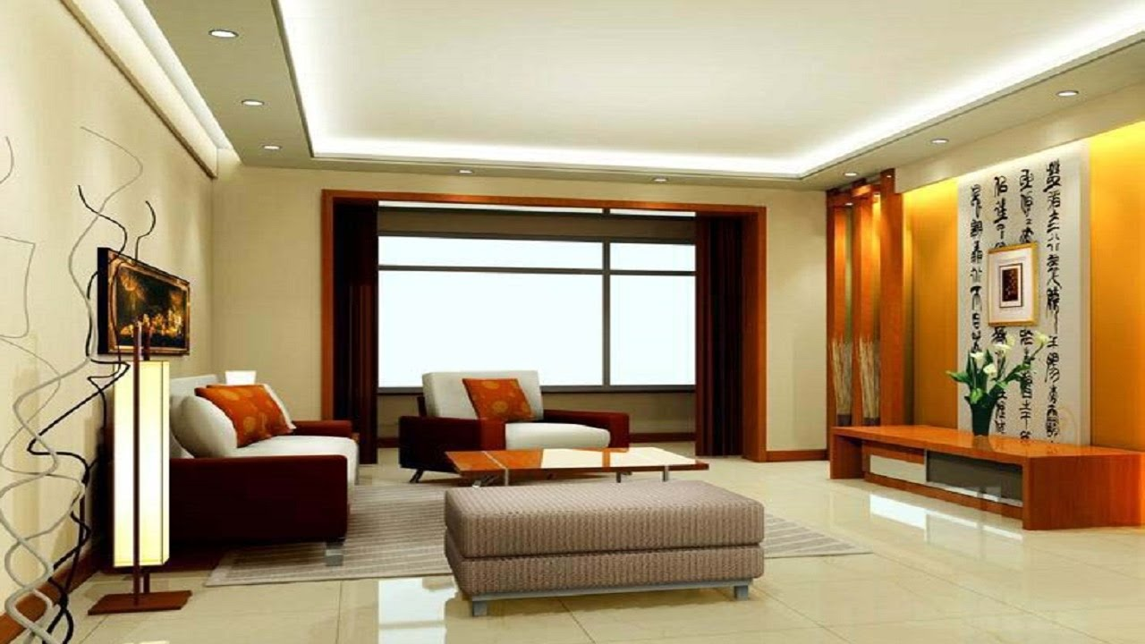 Latest 35 Living Room Interior Designs TV Cabinet Simple False Ceiling For