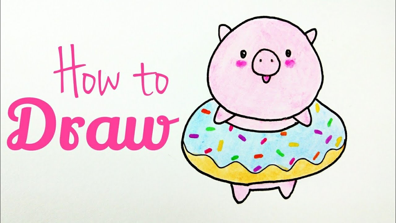 How To Draw Little Pig Drawing Cute Pig Tutorial Easy For Kids