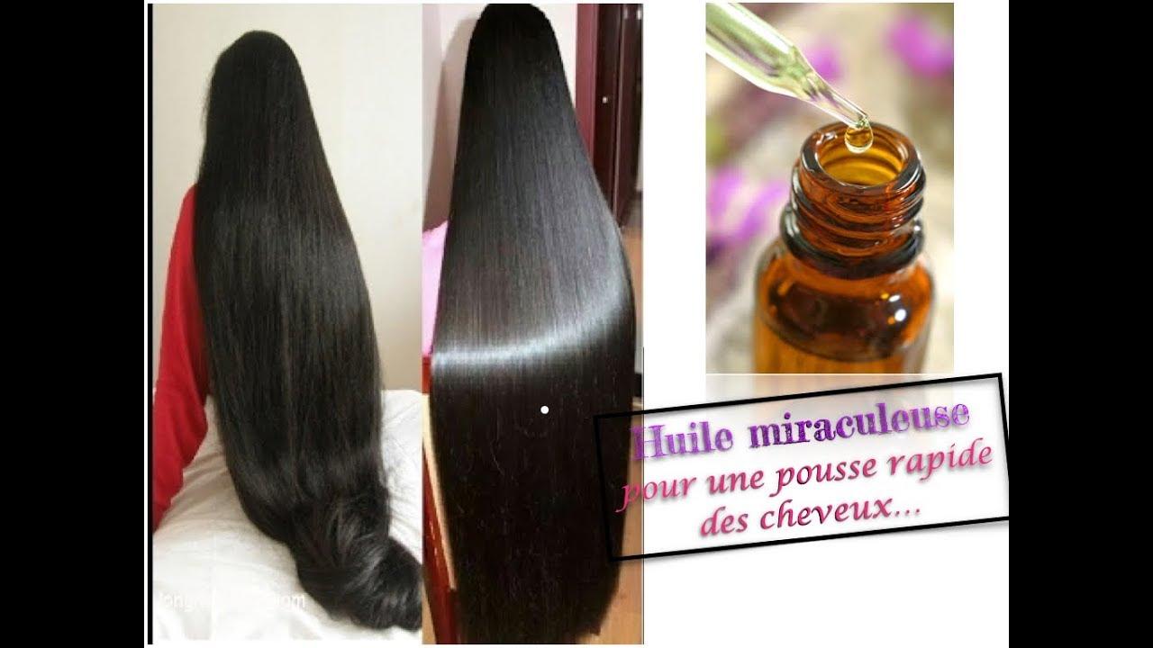 Pousse de cheveux rapide huile