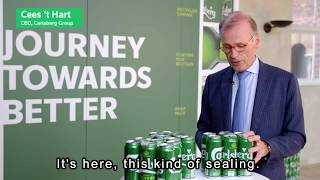 "Carlsberg launches world first ""Snap Pack"" to fight plastic waste"