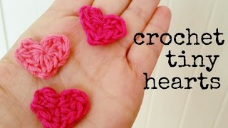 How to crochet a HEART (tiny size) ♥ CROCHET LOVERS