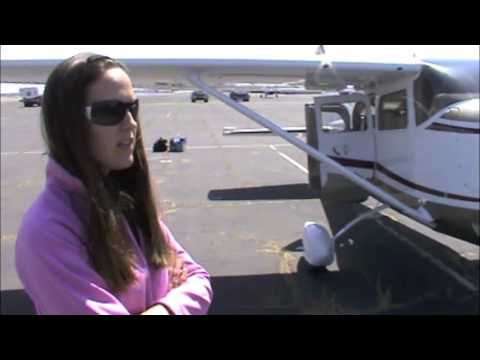 Sarah demos a NEW G1000 Cessna 206