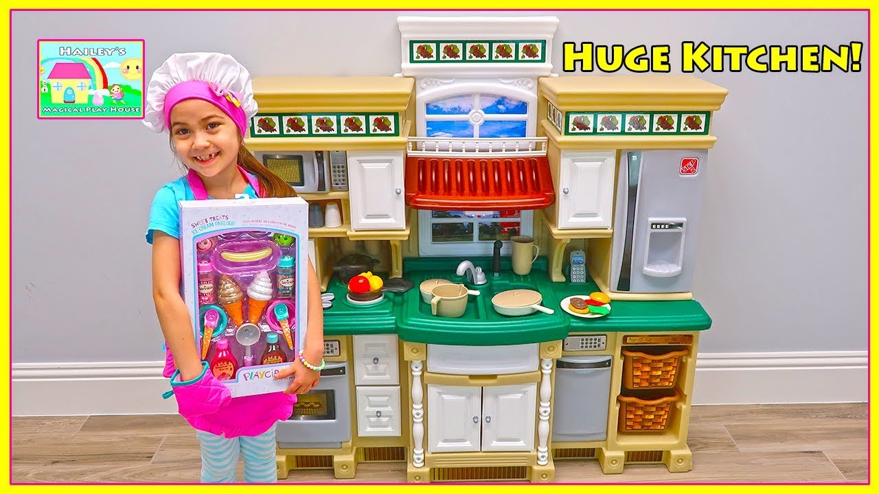 Hailey Pretend Play Cooking With Step2 Deluxe Kitchen Play