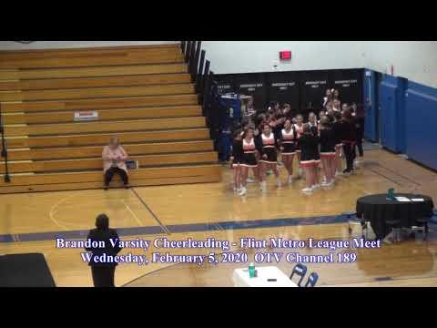 2 5 2020 Brandon Varsity Cheerleading   Flint Metro League Meet