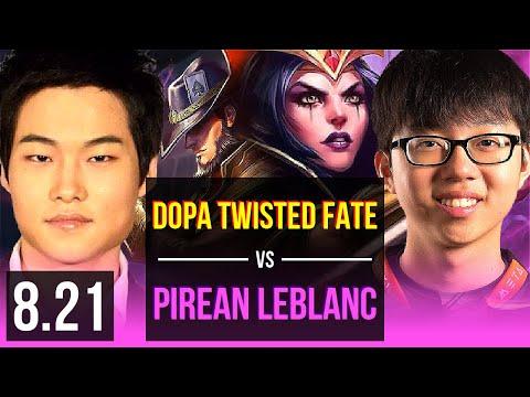 Dopa TWISTED FATE vs Pirean LEBLANC MID  Korea Challenger  v821
