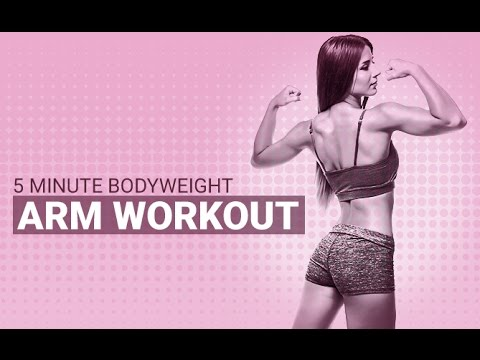5 minute arm workout for women no equipment  bodyweight