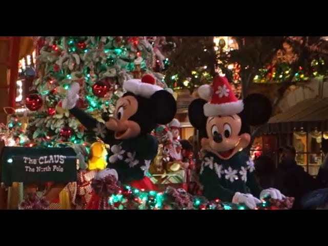 Disneyland Christmas Parade Broadcast Time 2021 A Christmas Fantasy Parade Disneyland 1 5 2020 Youtube