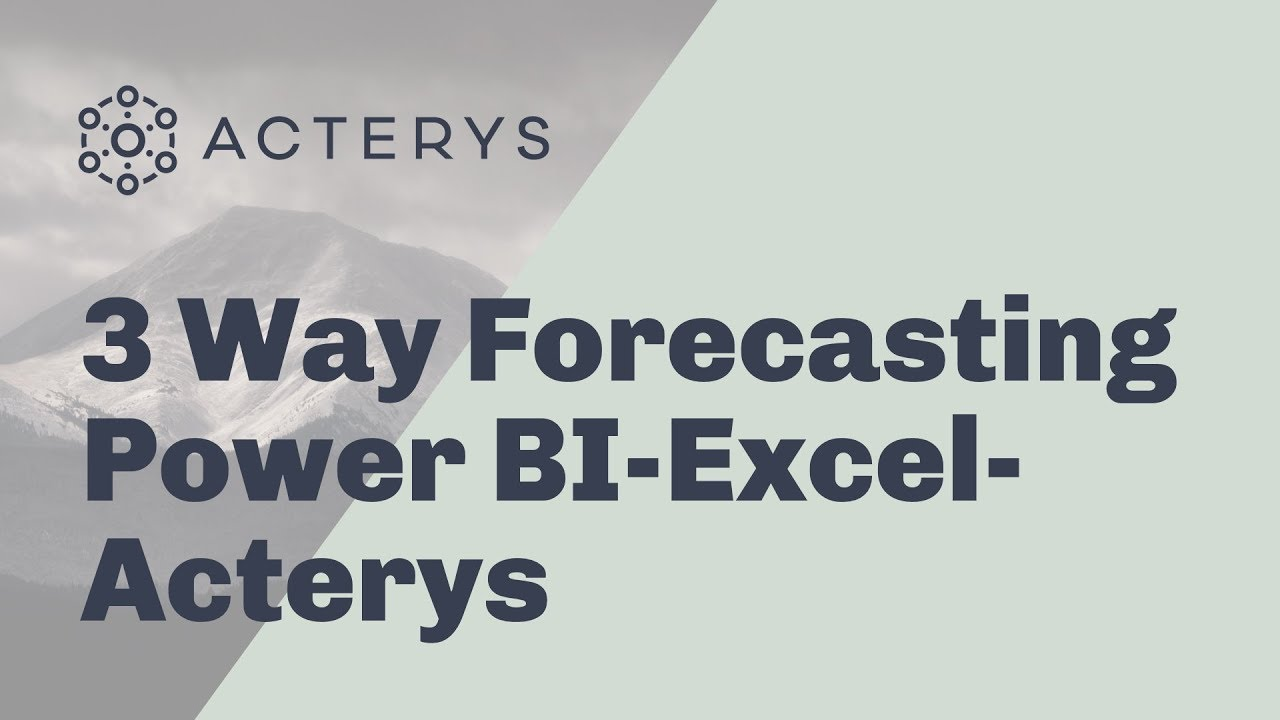 3 Way Forecasting & Planning with Power BI, PowerApps and