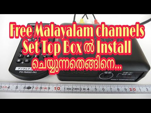 Free to air Malayalam channel set top box installation...