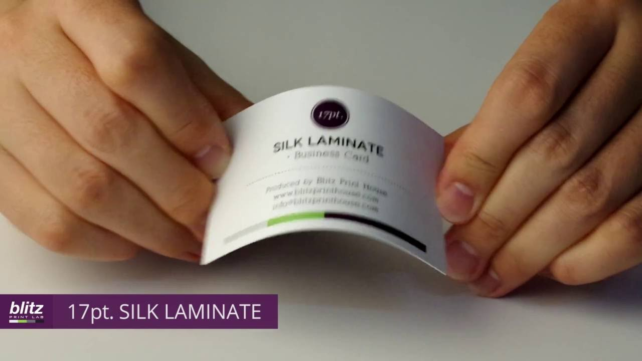 17PT SILK LAMINATE Business Card by Blitz Print House - YouTube