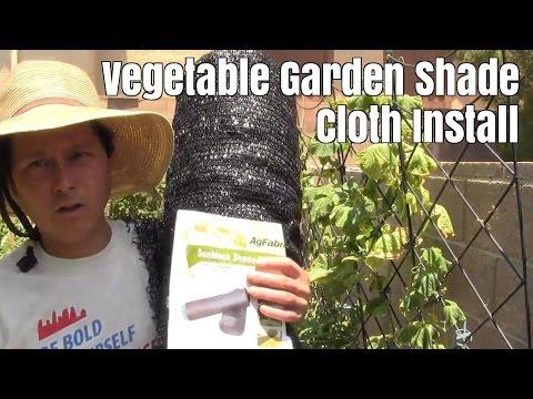 garden shade cloth install protect