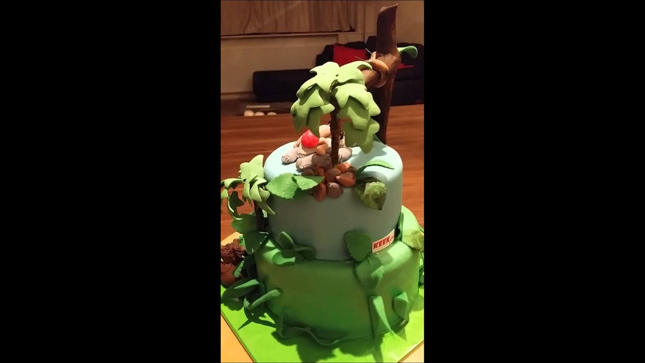 Jungle Book birthday Cake by KEEKjes.nl - YouTube