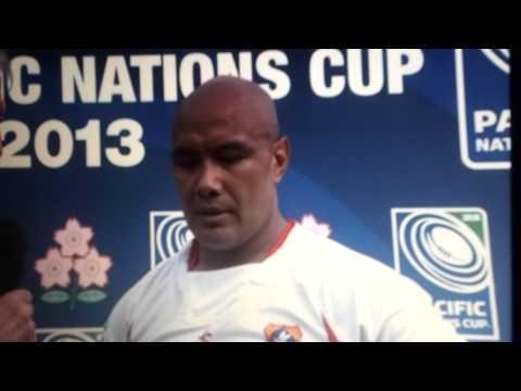 Tonga Vs Japan PNC Nili Latu post game