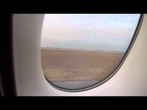 Emirates A380 BKK-HKG electronic window shade and HKG landing 2.8.11