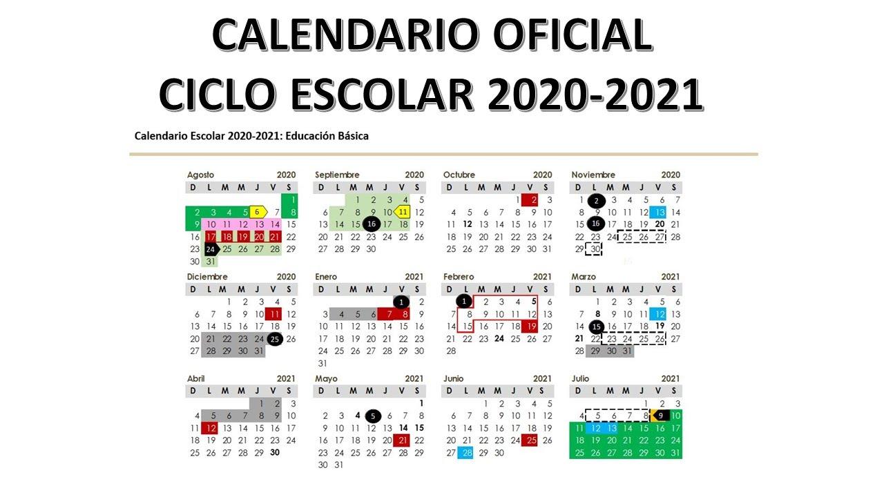 Acción Docente: CALENDARIO ESCOLAR OFICIAL CICLO 2020-2021 - YouTube