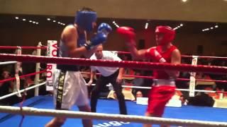Niels Racine (CPC) vs Mathis PERRIN (Boxwin). Gala boxe (light-contact) Carouge. 21.11.2014