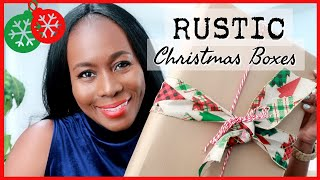 HOW TO CREATE RUSTIC DIY CHRISTMAS DECOR AND GIFT BOXES | VLOGMAS 2020 DAY 1 | ISOWA GALLERY