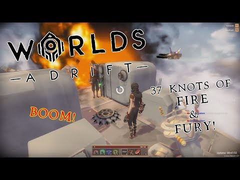37 Knots of Fire & Fury! High Speed Ship vs. Ship Battle! | Worlds Adrift Highlights