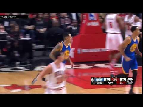 Matt Barnes First Basket as a Warrior   Warriors vs Bulls   Mar 2, 2017   2016 17 NBA Season