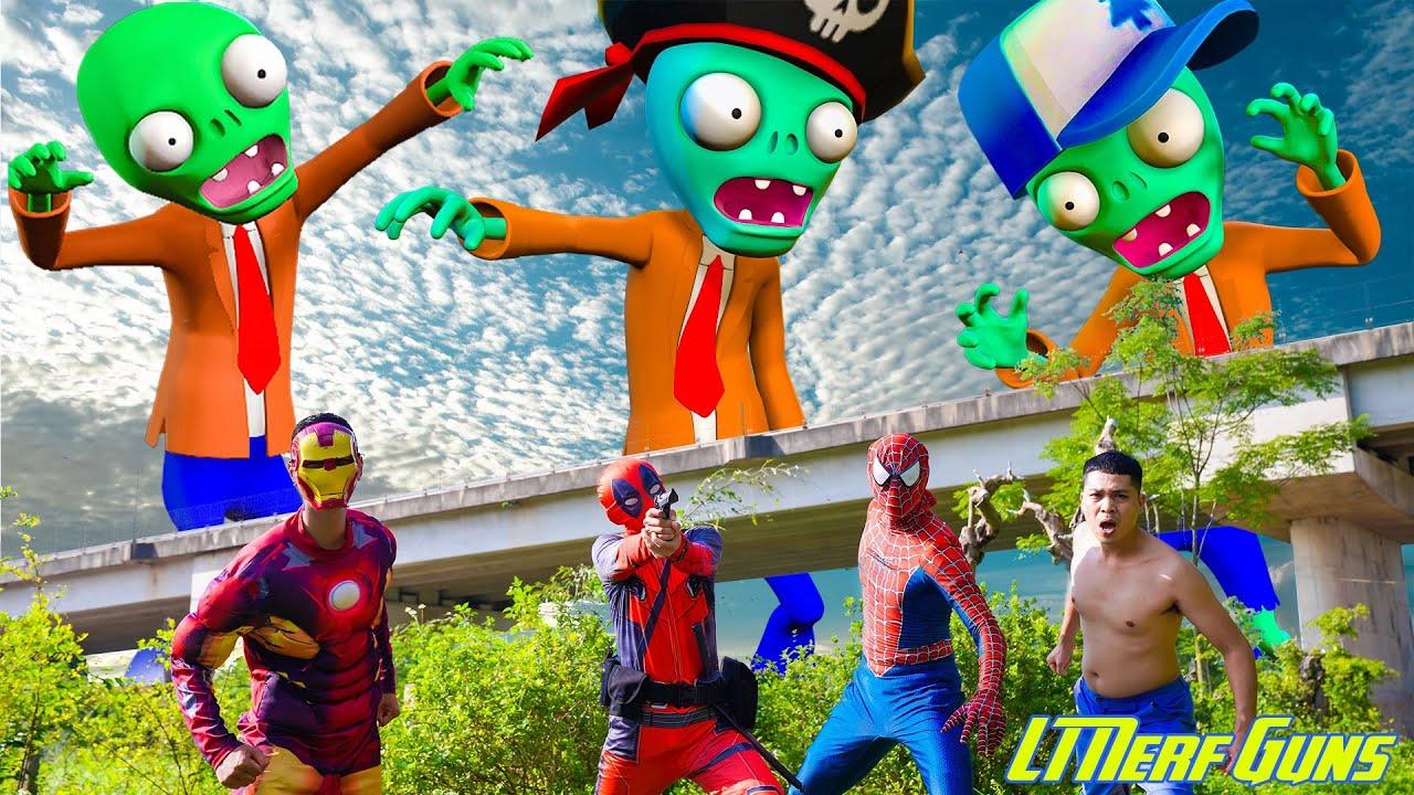 LT Nerf Gun: SpiderMan X Warriors Nerf Guns Fight Criminal Group Zombie Attack The City