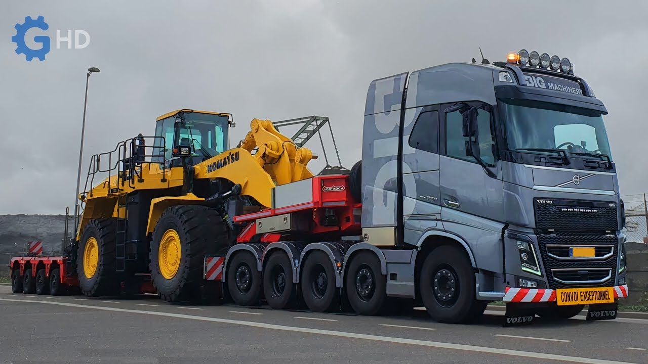 The Most Impressive Trucks for the Transport of Heavy Machinery That You Must See ▶Special Chassis