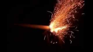 作った黒色火薬で3種類の簡単な花火をつくってみました。