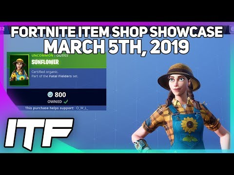 Fortnite Item Shop *NEW* SUNFLOWER + HAYSEED SKIN SET! [March 5, 2019] (Fortnite Battle Royale) thumbnail