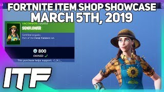 Fortnite Item Shop *NEW* SUNFLOWER + HAYSEED SKIN SET! [March 5, 2019] (Fortnite Battle Royale)