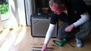 Installing tilt-back legs on a Fender amp