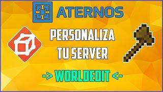 ATERNOS !! Como Descargar Y Configurar WORLDEDIT - Modifica Tu Server [2016][Full] | Español