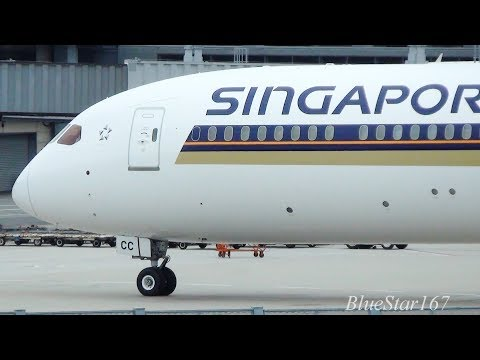 Singapore Airlines Boeing 787-10 (9V-SCC) taxiing at KIX/RJBB (Osaka - Kansai) RWY 06L