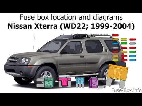 fuse box location and diagrams: nissan xterra (wd22; 1999-2004) - youtube  youtube