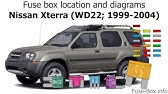 Fuse Box Location And Diagrams Nissan Xterra N50 2005 2015