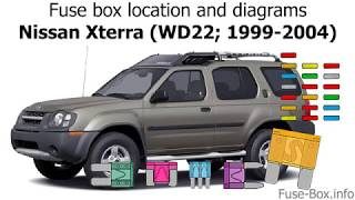 Fuse Box Location And Diagrams Nissan Xterra Wd22 1999 2004 Youtube