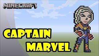 Minecraft: Pixel Art Tutorial: Captain Marvel