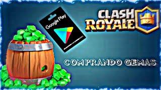 Comprando gemas Clash Royale