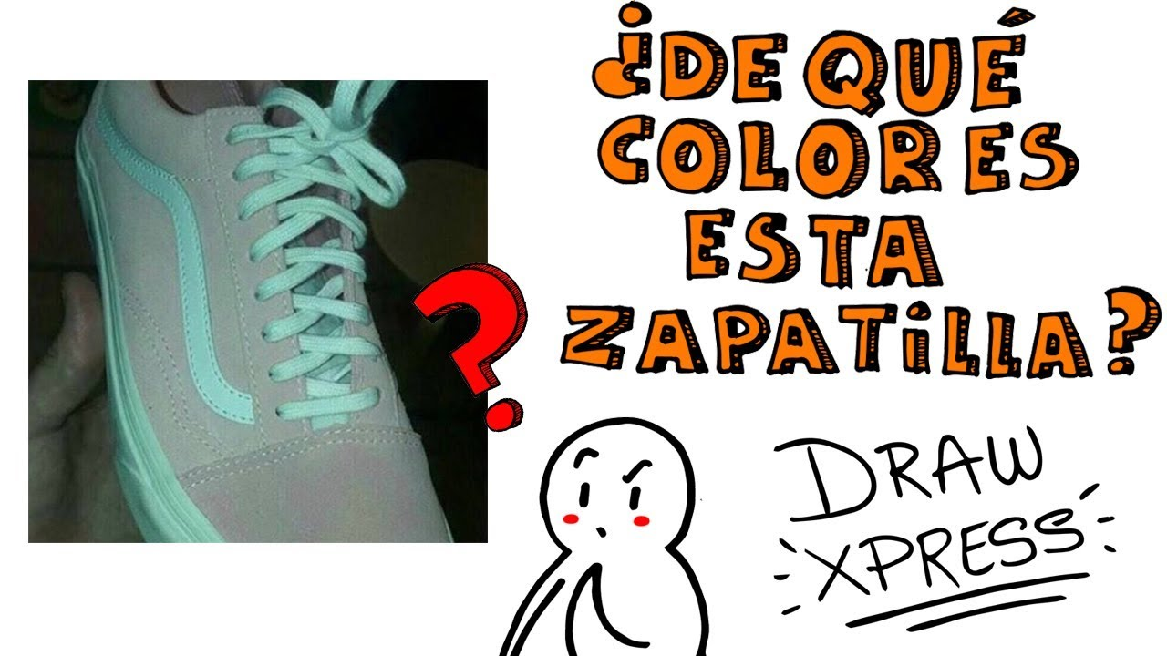 WHAT COLOR YOU SEE THIS SHOE? ¿Gray or pink? | DrawXpress
