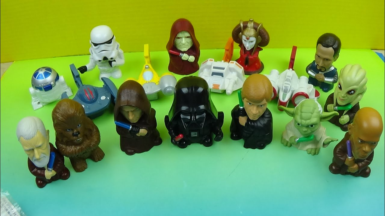 2005 Burger King S Star Wars Episode Lll Complete The Saga Set Of 17 Toys Video Review Youtube