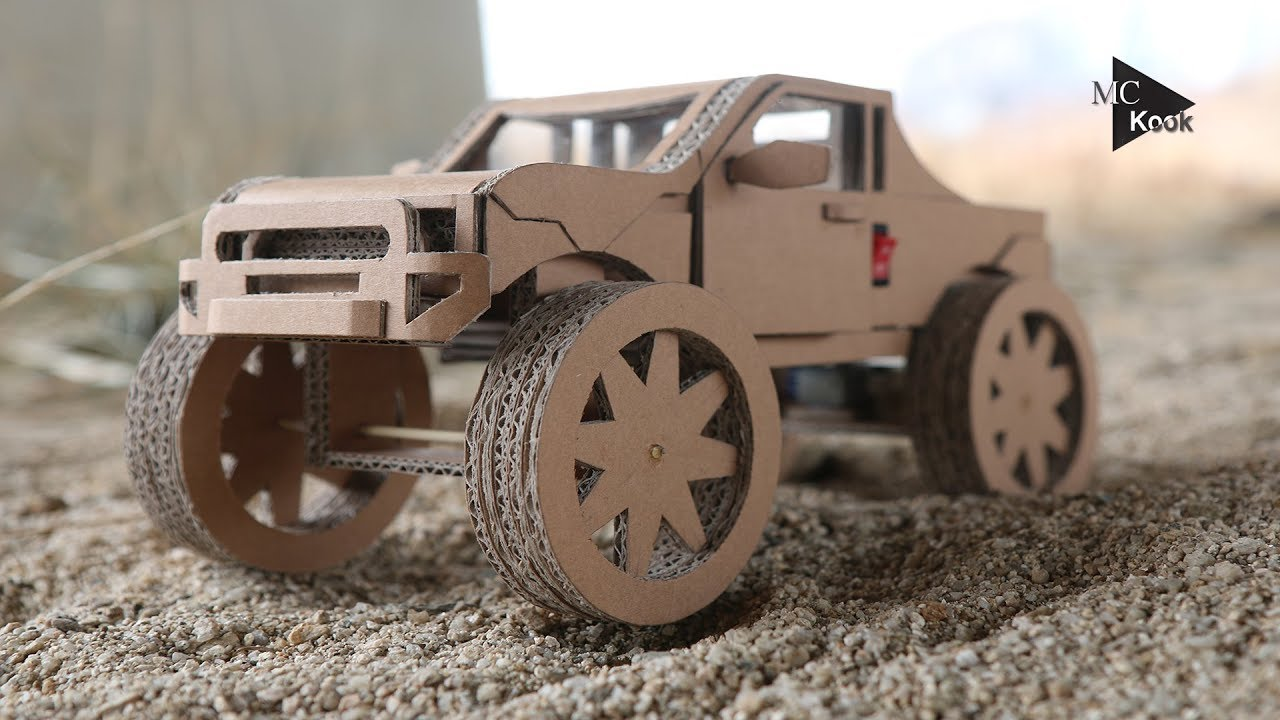 How To Make Amazing Monster Truck Off Road Car From Cardboard