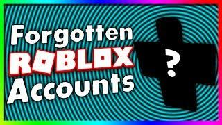 Forgotten ROBLOX Accounts...