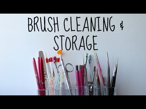 HOW TO CLEAN AND STORE YOUR NAIL ART BRUSHES | Banicured