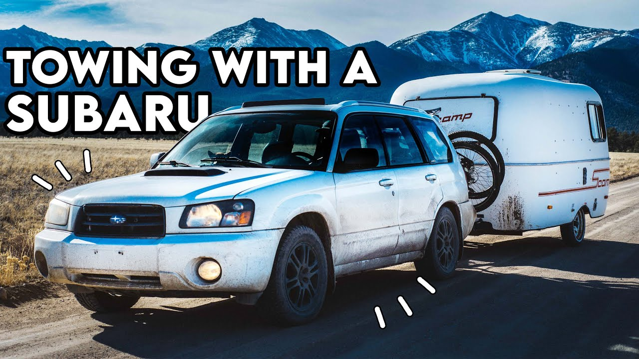 TOWING w/ a SUBARU // Full-Time 13ft Scamp Trailer