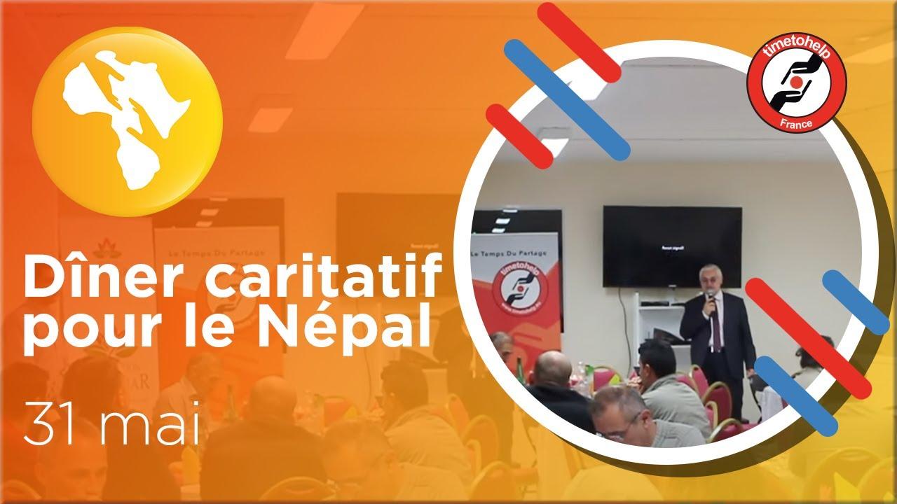 Dîner caritatif pour le Népal le dimanche 31 mai