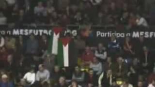 Action of solidarity with Palestine: F.C.Barcelona  vs maccabi tel aviv
