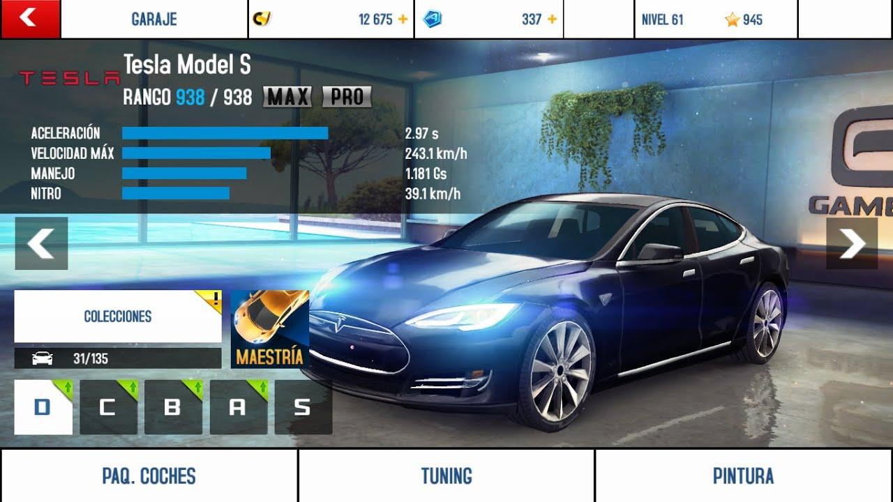 Cadillac Cts V >> Asphalt 8 - Airborne - Tesla Model S - MAX/PRO - Clase D ...